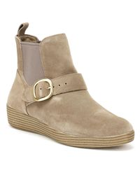 Fitflop - Multicolor Superbuckle Suede Chelsea Boots Fashion - Lyst