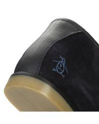 Original Penguin - Blue Mens Navy Legal Suede Boots for Men - Lyst