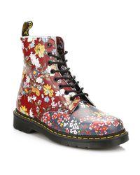 Dr. Martens | Multicolor Floral Mix Pascal Pc Boots | Lyst