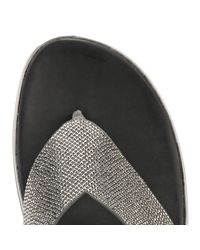 Fitflop - Gray Womens Pewter Grey Crystal Sandals - Lyst