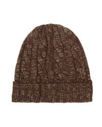 Timberland - Mens Brown Ribbed Fisherman Beanie for Men - Lyst