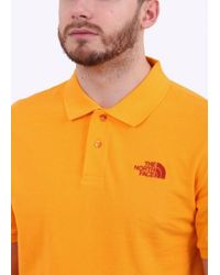 The North Face - Orange Polo Piquet for Men - Lyst