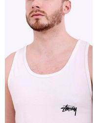 Stussy - Natural 8 Ball Pigment Dyed Tank for Men - Lyst