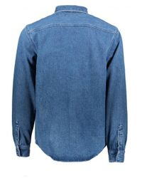 Carhartt - Blue Salinac Shirt for Men - Lyst