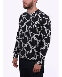Paul Smith - Black Heart Pattern Sweater for Men - Lyst