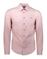 Vivienne Westwood - Pink Embroidered Logo Shirt for Men - Lyst