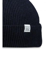 Norse Projects - Blue Norse Rib Beanie for Men - Lyst