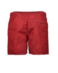 Stone Island - Red Nylon Metal Swim Shorts for Men - Lyst