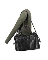 Barbour - Black Leather Medium Travel Bag - Lyst