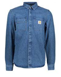 Carhartt - Blue Salinac Shirt for Men - Lyst