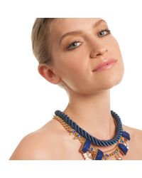 Trina Turk - Blue 16in Adj Pendant On Cord Necklace - Lyst