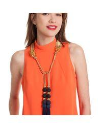 Trina Turk - Multicolor Open Lariat Tassel Necklace - Lyst