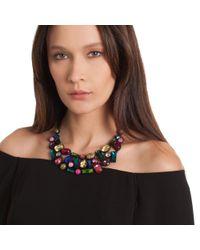 Trina Turk - Multicolor Confetti Stone Statement Necklace - Lyst