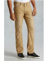 True Religion | Natural Ricky Straight Corduroy Mens Pant for Men | Lyst