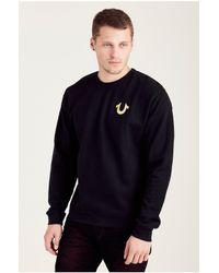True Religion   Black Mens Sweatshirt for Men   Lyst