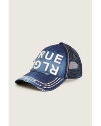 True Religion | Blue Denim True Rlgn Hat for Men | Lyst