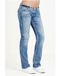 True Religion | Blue Billie Straight Super T Womens Jean | Lyst