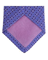 Turnbull & Asser | Multicolor Poppy Spots Purple And Lilac Silk Tie for Men | Lyst
