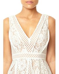 Forever Unique - White Christine Lace Skater Dress - Lyst