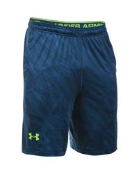 "Under Armour - Green Men's Ua Raid Printed 10"" Shorts for Men - Lyst"
