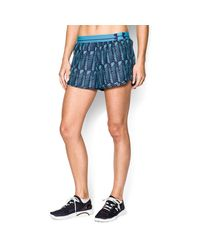 Under Armour | Blue Women's Ua Printed Perfect Pace Short | Lyst