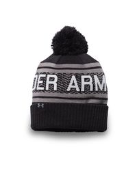 Under Armour | Black Men's Ua Retro Pom 2.0 Beanie for Men | Lyst