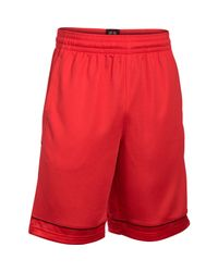 Under Armour - Red Men's Ua Baseline Basketball Shorts for Men - Lyst