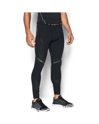 Under Armour | Black Men's Heatgear® Armour Zone Compression Leggings for Men | Lyst