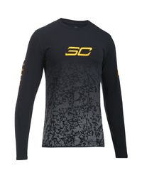 Under Armour - Black Men's Sc30 Fade Away Long Sleeve T-shirt for Men - Lyst