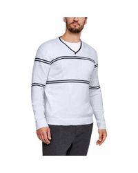 Under Armour - White Sportswear V-neck Sweater for Men - Lyst