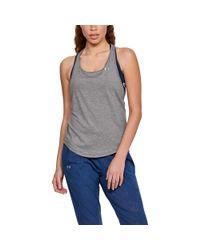 Under Armour - Gray Women's Heatgear® Mesh Back Tank - Lyst