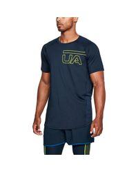 Under Armour Blue Men's Ua Mk1 Graphic Short Sleeve for men