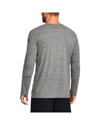 Under Armour - Gray Men's Wisconsin Ua Iconic Tri-blend Long Sleeve T-shirt for Men - Lyst