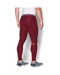 Under Armour - Red Men's Nfl Combine Authentic Ua Heatgear® Armour Compression Leggings for Men - Lyst