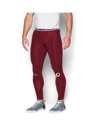 Under Armour | Red Men's Nfl Combine Authentic Ua Heatgear® Armour Compression Leggings for Men | Lyst
