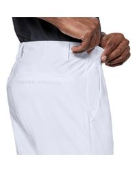 Under Armour White Men's Ua Threadborne Pants Tapered for men