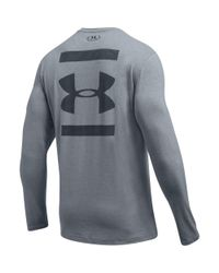Under Armour - Gray Men's Ua Back Graphic Long Sleeve T-shirt for Men - Lyst