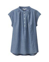Uniqlo - Blue Women Indigo Short Sleeve Blouse - Lyst