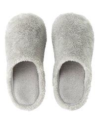 Uniqlo - Gray Fleece Room Shoes - Lyst