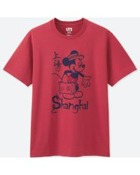 Uniqlo - Red Men Mickey Travels Short-sleeve Graphic T-shirt for Men - Lyst