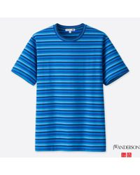Uniqlo - Blue Men Jwa Striped Short-sleeve T-shirt for Men - Lyst