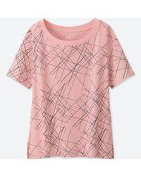 Uniqlo - Pink Women Sprz Ny Short-sleeve Graphic T-shirt (niko Luoma) - Lyst
