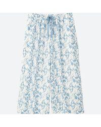 Uniqlo - White Women Mickey Blue Relaco 3/4 Shorts (wide) - Lyst