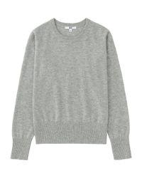 Uniqlo - Gray Women Cashmere Crew Neck Sweater - Lyst