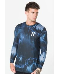 11 Degrees - Blue Sub Long Sleeve T-shirt for Men - Lyst