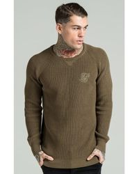 SIKSILK - Natural Fitted Knit Jumper for Men - Lyst