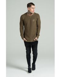 SIKSILK | Natural Fitted Knit Jumper for Men | Lyst