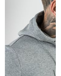 PUMA - Gray Embossed Archive Hoodie for Men - Lyst