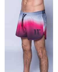 11 Degrees - Pink Printed Retro Swimshort for Men - Lyst
