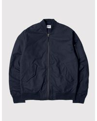 Edwin - Blue Flight Bomber Jacket for Men - Lyst